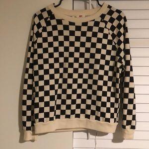 Levi's Crew Neck Checkered Sweatshirt